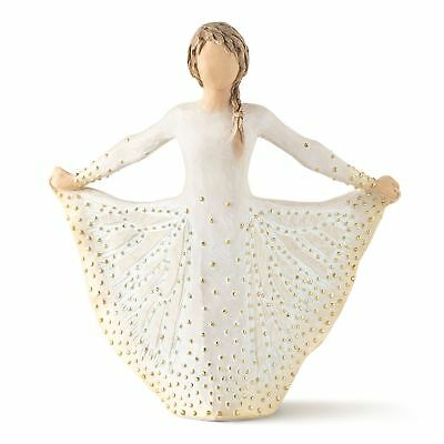 Willow Tree Butterfly Resin Figurine Girl Holding Dress Figure Ornament Gift