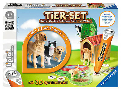 Ravensburger tiptoi Spielfigur Tierwelt Tier-Set Golden Retriever 00744