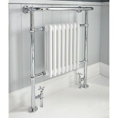 Academy Chrome Traditional Victorian Style Radiator Heated Towel Rail 963x673mm