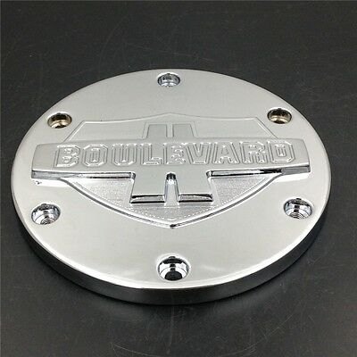 Motorcycle Chrome Aluminum Derby Covers For 2006-2013 SUZUKI Boulevard M109R