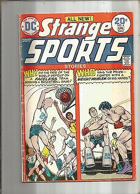 Strange Sports Stories #4  Basketball Cover  Dc 1974