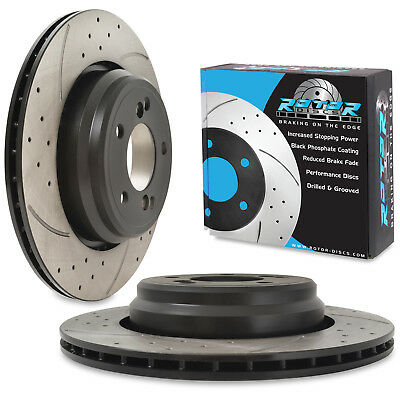 REAR DRILLED GROOVED 326mm BRAKE DISC PAIR FOR BMW 3 SERIES E46 M3 3.2 00-06