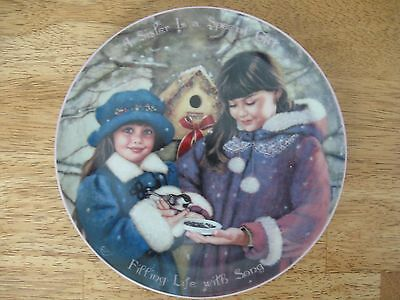 Bradford Exchange~collector plate~#3 A Sister Is a Special Gift Filling Life Wit