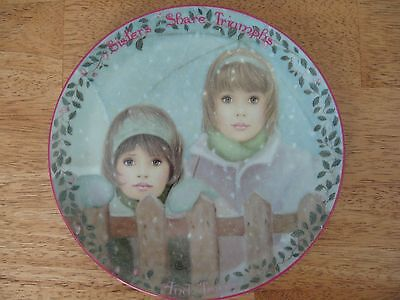 The Bradford Exchange~#11 Sisters Share Triumphs and Tears~collector plate~NEW