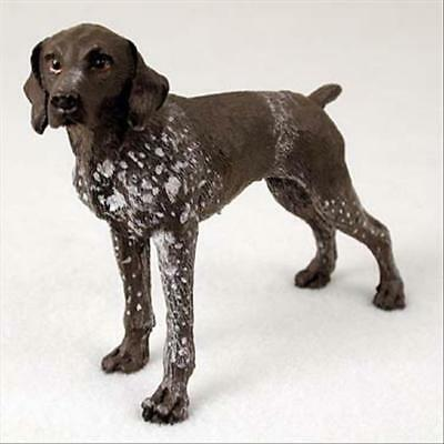 German Shorthaired Pointer Dog Hand Painted Collectable Figurine Statue
