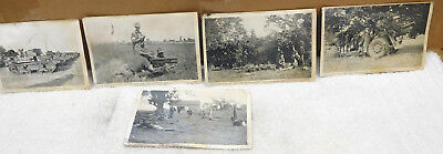 5 Photo Postcards from the 1939 1st Army Maneuvers-Plattsburg NY including Tanks