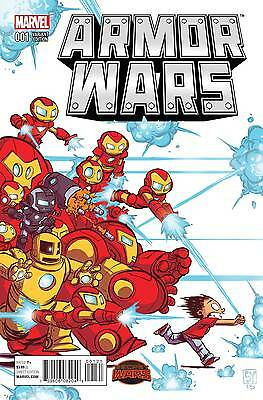 ARMOR WARS #1 (Secret Wars), SKOTTIE YOUNG VARIANT, Marvel Comics (2015)