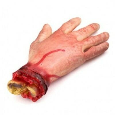 HALLOWEEN Prop Realistic Hands Terror Bloody Fake Body Parts Severed Arm Hand UK