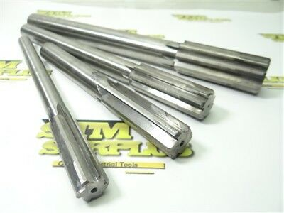 """Lot Of 4 Hannibal Carbide Tipped Chucking Reamers 17Mm, 7/8"""", 15/16"""" & 1-1/4"""""""