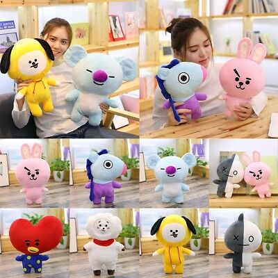 KPOP BTS BT21 Stuffed Plush Toy Pillow Waist Cushion TATA SHOOKY KOYA CHIMMY Lot