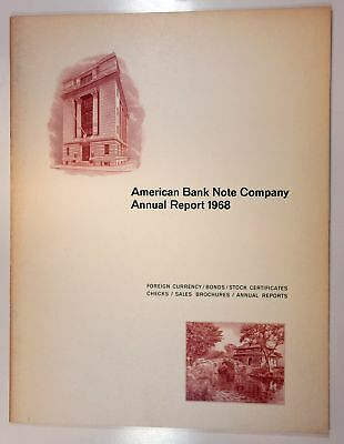 American Bank Note Co ABNC 1968 Annual Report XF+
