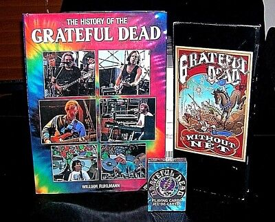 LOT OF THREE GRATEFUL DEAD Collector Items 3 CD's Without a Net, Cards, & Book