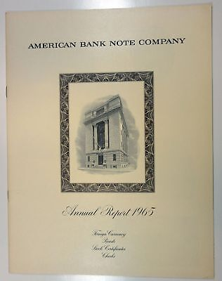 American Bank Note Co ABNC 1965 Annual Report XF+