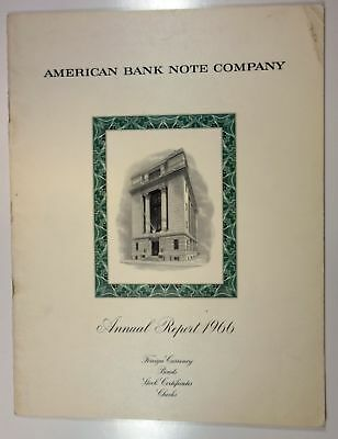 American Bank Note Co ABNC 1966 Annual Report XF+