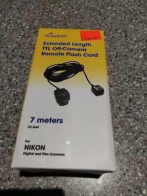 Promaster Extended Length TTL Off-Camera Remote Flash Cord 7M Nikon