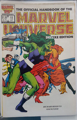 MARVEL UNIVERSE HANDBOOK - DELUXE EDITION # 11, (PREOWNED / VFN- / R to S )