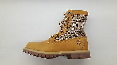 TIMBERLAND AUTHENTICS OPEN Weave 6 Inch Wheat Nubuck Womens Size Boots A13Gc