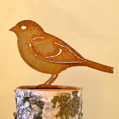 Rusty Metal  Sparrow Bird Silhouette Accent for Inside or Out