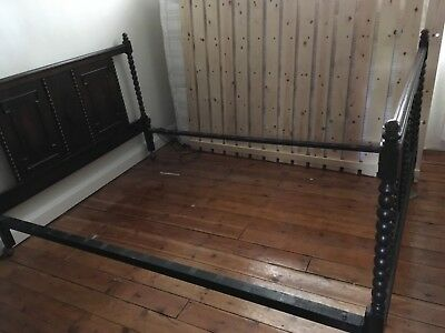 Vintage bed frame 'double size' oak finish