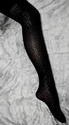 33 Black Sparkly Tights Girls Age 9-13 Dance Party Wear Wholesale Hosiery Lot