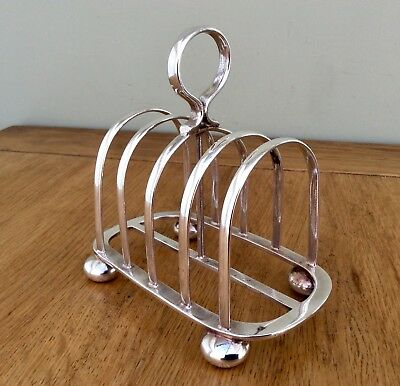 Quality WALKER & HALL Antique Art Nouveau Silver Plated Footed Toast Rack C1904