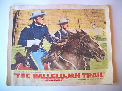 THE HALLELUJAH TRAIL LOBBY CARD BURT LANCASTER Lee REMICK WESTERN 1965