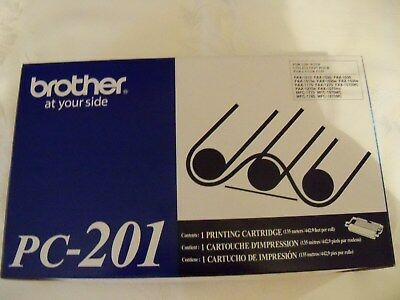 NEW IN BOX Brother PC-201 Black Fax Printing Cartridge