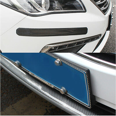 Blue Carbon Fiber Car Scuff Plate Door Sill Cover Panel Step Protector Guard S