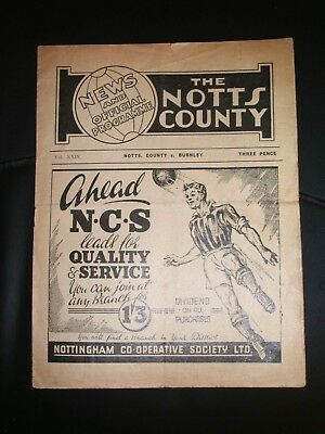 Notts  County  V  Burnley  (F.a.cup R3 )  07-01-1950