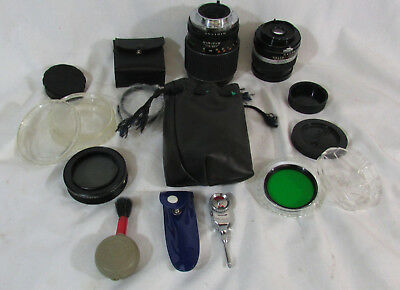 Lot Of Camera Lens W/ Accessories (650)