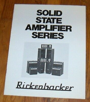 1970's or 80's RICKENBACKER Solid State Amplifier Series Dealer Catalog