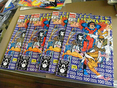 Marvel 1991 5 copies NEW MUTANTS #100 100 100 100 100 last ish CABLE Liefeld qq
