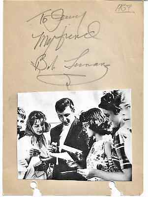 Bob Luman - Scarce Vintage In Person Hand Signed Album Page...image...