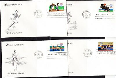 USA 1980 Summer Olympics set 4 First Day Cover
