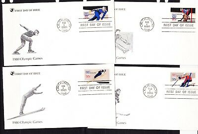 USA 1980 Winter Olympics set 4 First Day Cover