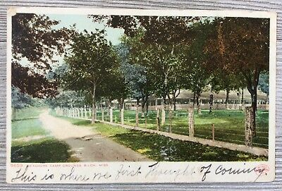Seashore Campgrounds, Biloxi, Miss. Rppc Postcard Detroit Publishing Co. #9659
