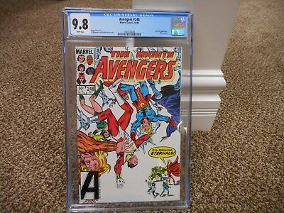 Avengers 248 cgc 9.8 Eternals cover MINT WHITE pages Marvel 1984 movie Vision