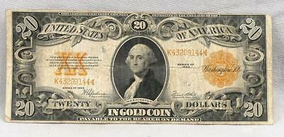 1922 $20 GOLD Certificate Note! No Reserve!