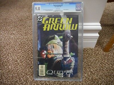Green Arrow 2 cgc 9.8 DC 2001 Kevin Smith story Mark Wagner cover Batman 1st prt