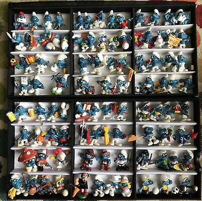 91 SMURF Figures Variations No Doubles Vintage Bride Groom Sports Brainy Papa