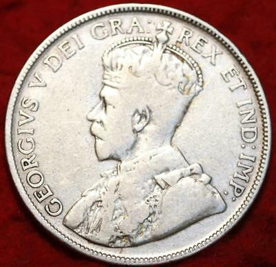 1931 Canada Silver 50 Cents Foreign Coin