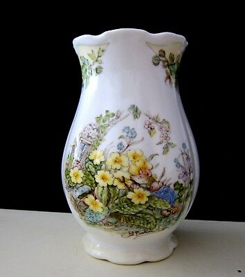 Royal Doulton The Brambly Hedge Spring Gift Collection Vase Jill Barklem 1990