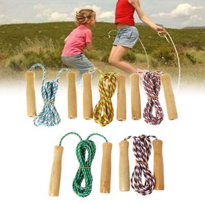 Hot 2m Wooden Handle Rope Jumping Kid Fitness Equipment Practice Speed Skipping