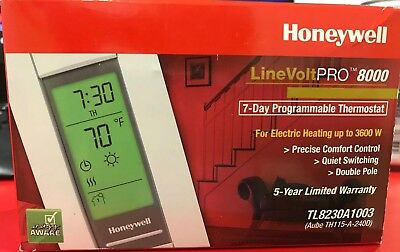 Honeywell TL8230A1003 LineVoltPro 8000 Programmable 7-day Thermostat