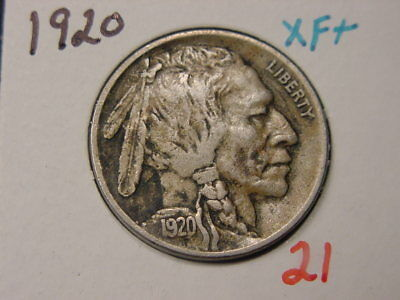 1920D Buffalo Nickel Xxf + Nice Coin Free Shipping