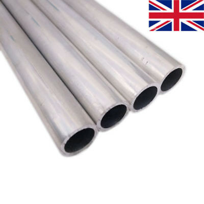 "500mm 20"" Aluminum 6063 Tube Straight Pipe Wall2mm OD 8-30mm DIY UK"