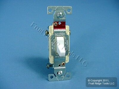 Cooper Wiring White COMMERCIAL Toggle Wall Light Switch 3-Way 20A Bulk CS320W
