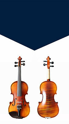 A15 Handmade 4/4 Full Size Wooden Violin Beginners Practice Musical Instrument M