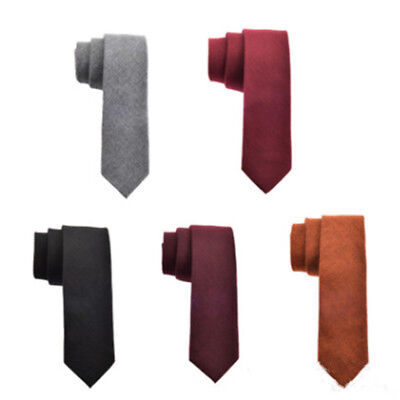 Men's Plain Tie Wool Tie Knit Knitted Tie Necktie Slim Skinny Woven Fashion