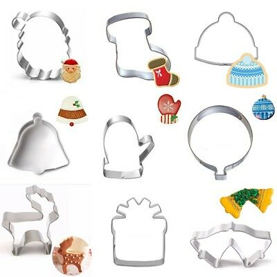 Christmas Cookie Cutter Stainless Steel Cut Candy Biscuit Mold Cooking Tools